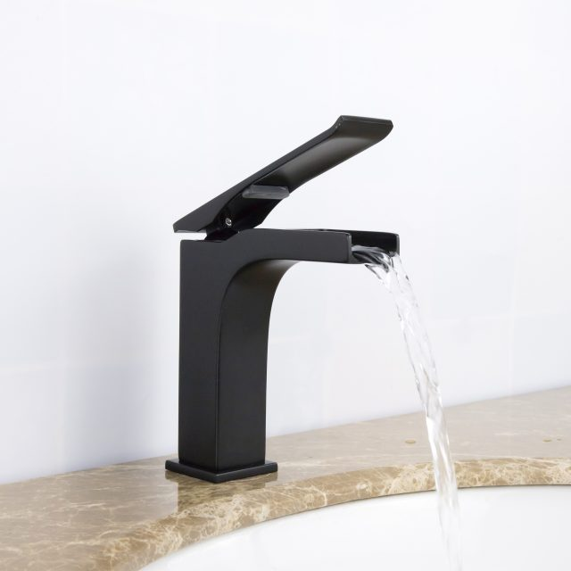 Ravine Waterfall Matte Black Faucet