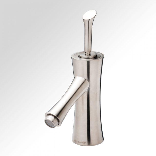 Bamboo Brushed Nickel Faucet