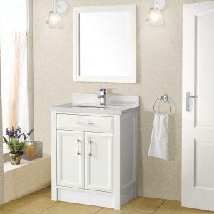 Calais 28-inch Bathroom Cabinet in White