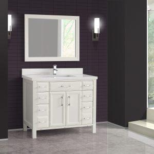 Calais 42-inch Bathroom Cabinet in White