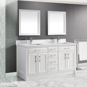 Calais 63-inch Bathroom Cabinet in White