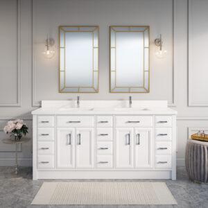 Calais 75-inch Bathroom Cabinet in White
