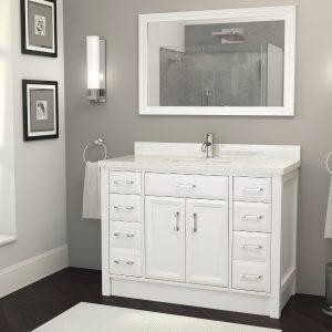Calais 48-inch Bathroom Cabinet in White