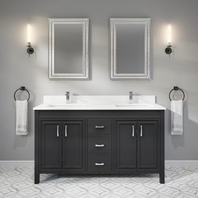 Corniche 48-inch Bathroom Cabinet in Pepper Grey