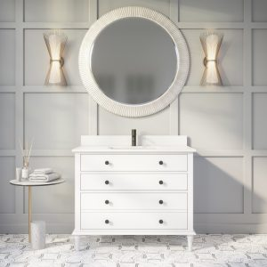 Francis 42-inch Bathroom Cabinet in Oxford Grey