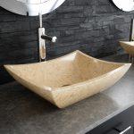 Golden Tiki Natural Saffron Bathroom Vessel Sink