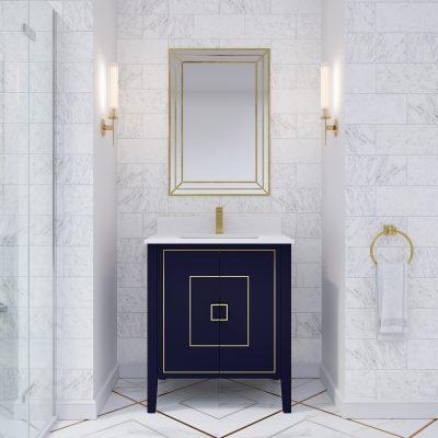 Hayden 30-inch Bathroom Cabinet in Navy Blue