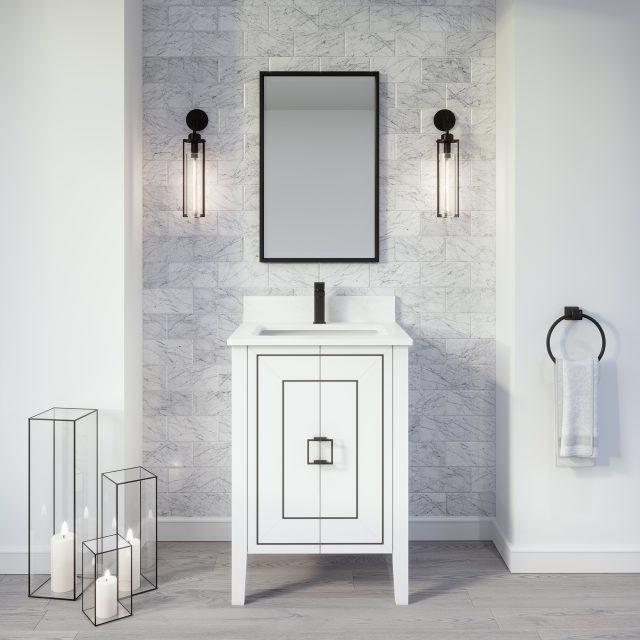 Hayden 24-inch Bathroom Cabinet in White