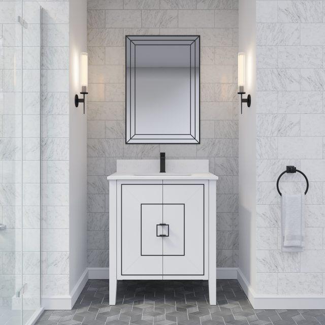 Hayden 30-inch Bathroom Cabinet in White