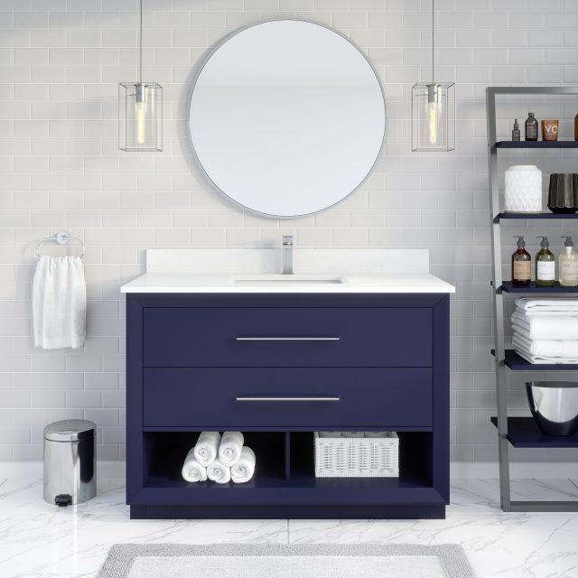 Ronaldo 48-inch Bathroom Cabinet in Navy-Blue