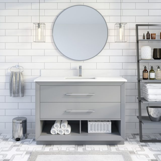 Ronaldo 48-inch Bathroom Cabinet in Oxford Grey