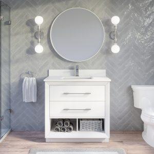 : Ronaldo 36-inch Bathroom Cabinet in White