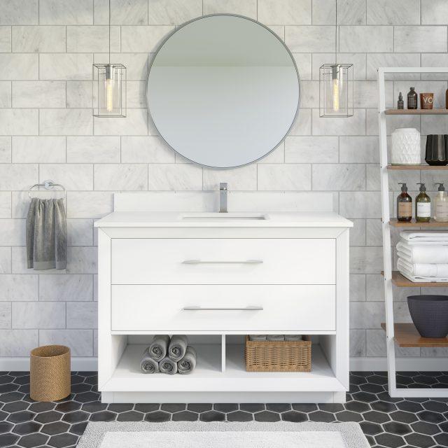 Ronaldo 36-inch Bathroom Cabinet in White
