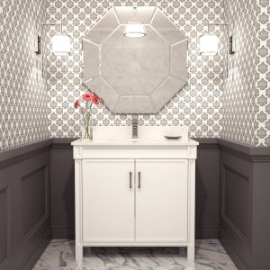 Selena 36-inch Bathroom Cabinet in White