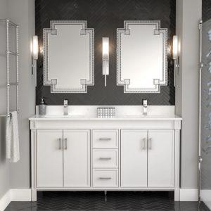 Selena 63-inch Bathroom Cabinet in White