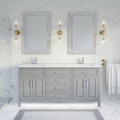 Thomson 72-inch Bathroom Cabinet in Oxford Grey