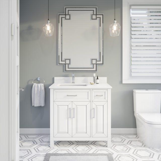 Thomson 36-inch Bathroom Cabinet in White