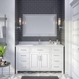 Thomson 60-inch Bathroom Cabinet in White