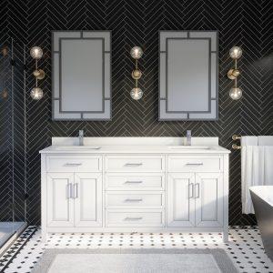 Thomson 72-inch Bathroom Cabinet in White