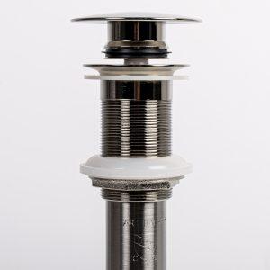 Brushed Nickel Glass Drain
