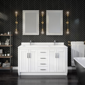 Jackie 60-inch Bathroom Cabinet in White